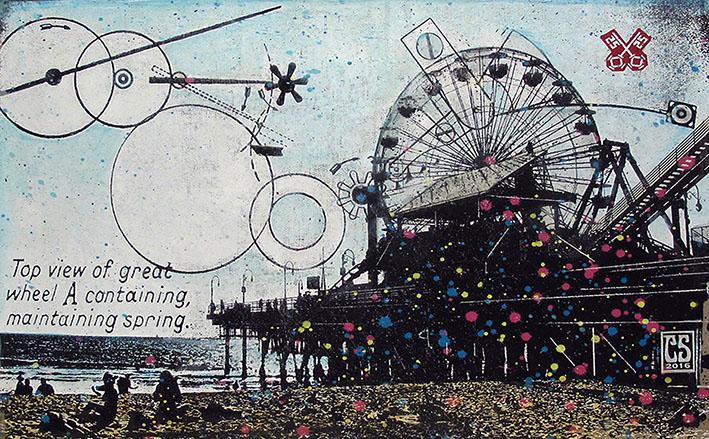 Santa Monica Daydream, 65x90cm, 2017