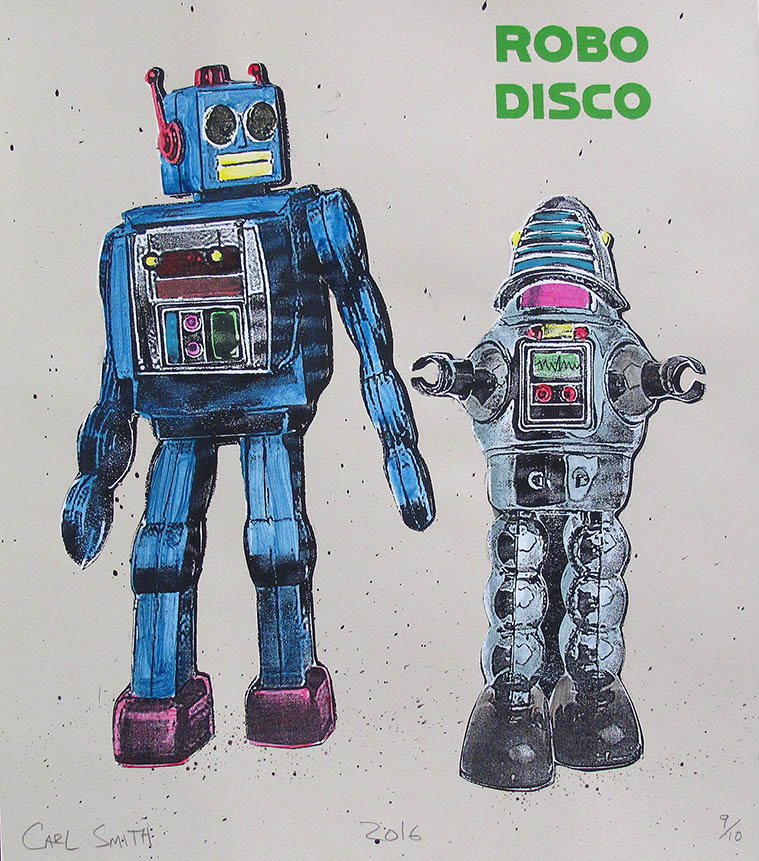 Robo Disco, 56x70cm, 2018