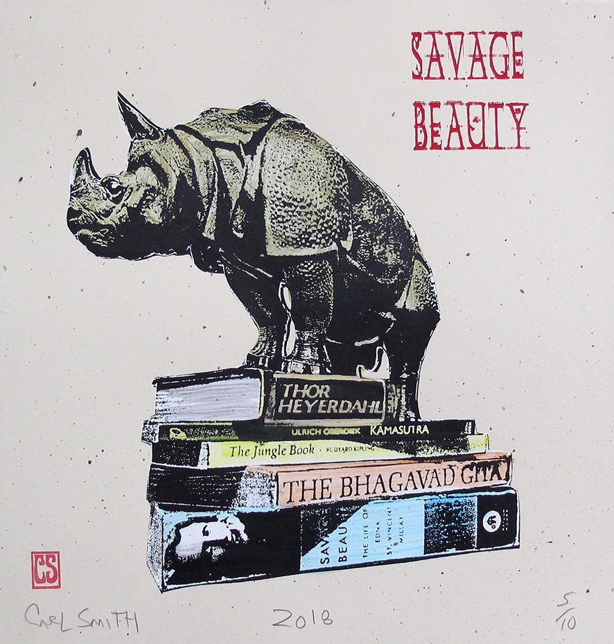 Savage Beauty, 34x35cm, 2018
