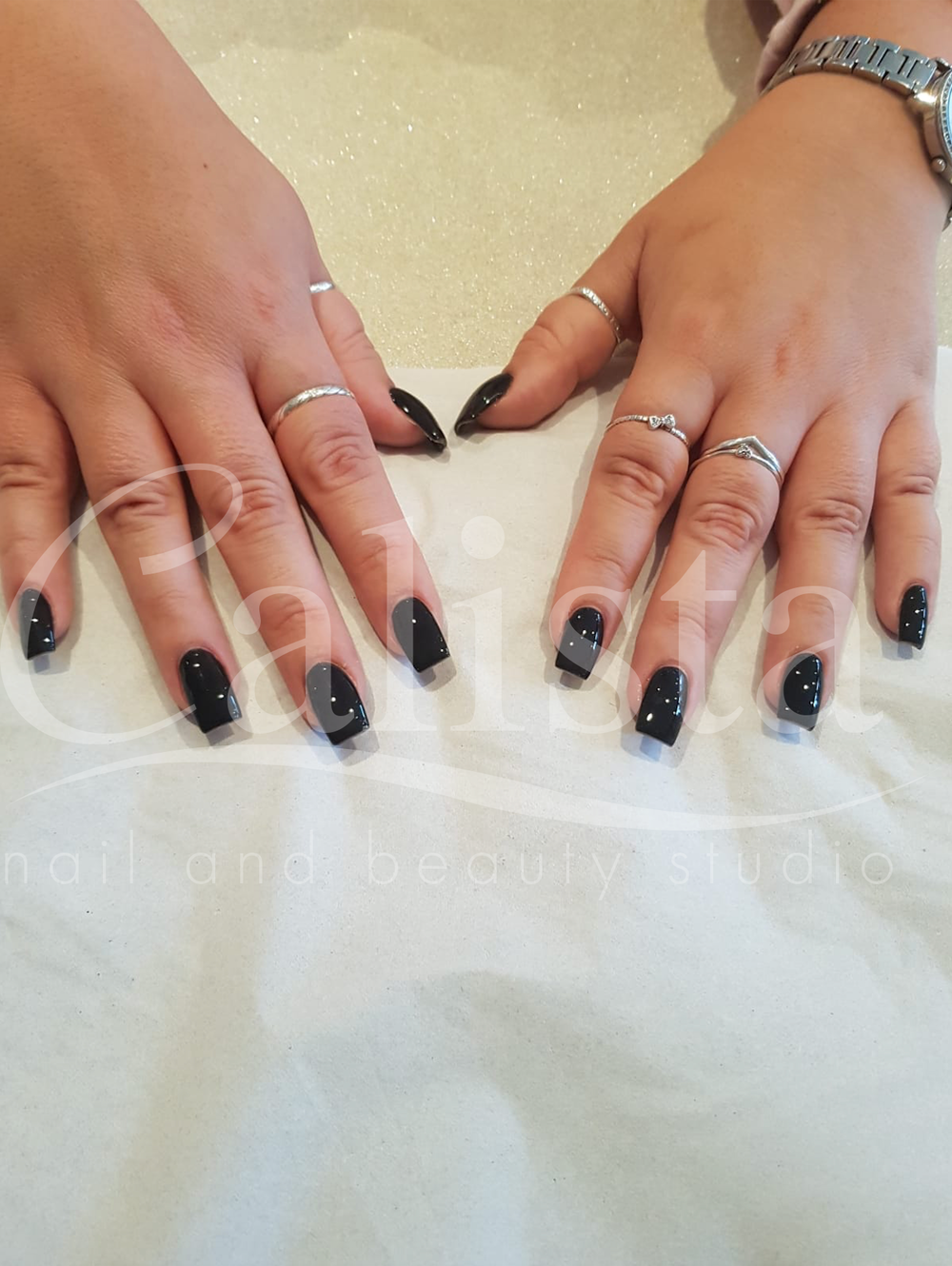 Acrylic Nails with Gel Polish
