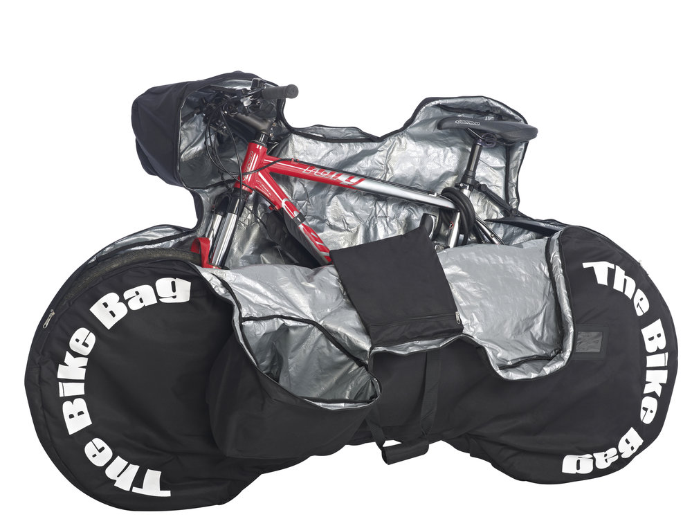 Large Padded Black Bike Bag