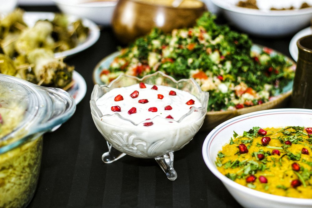 A table full of food from an unexplored cuisine, what's not to love?
