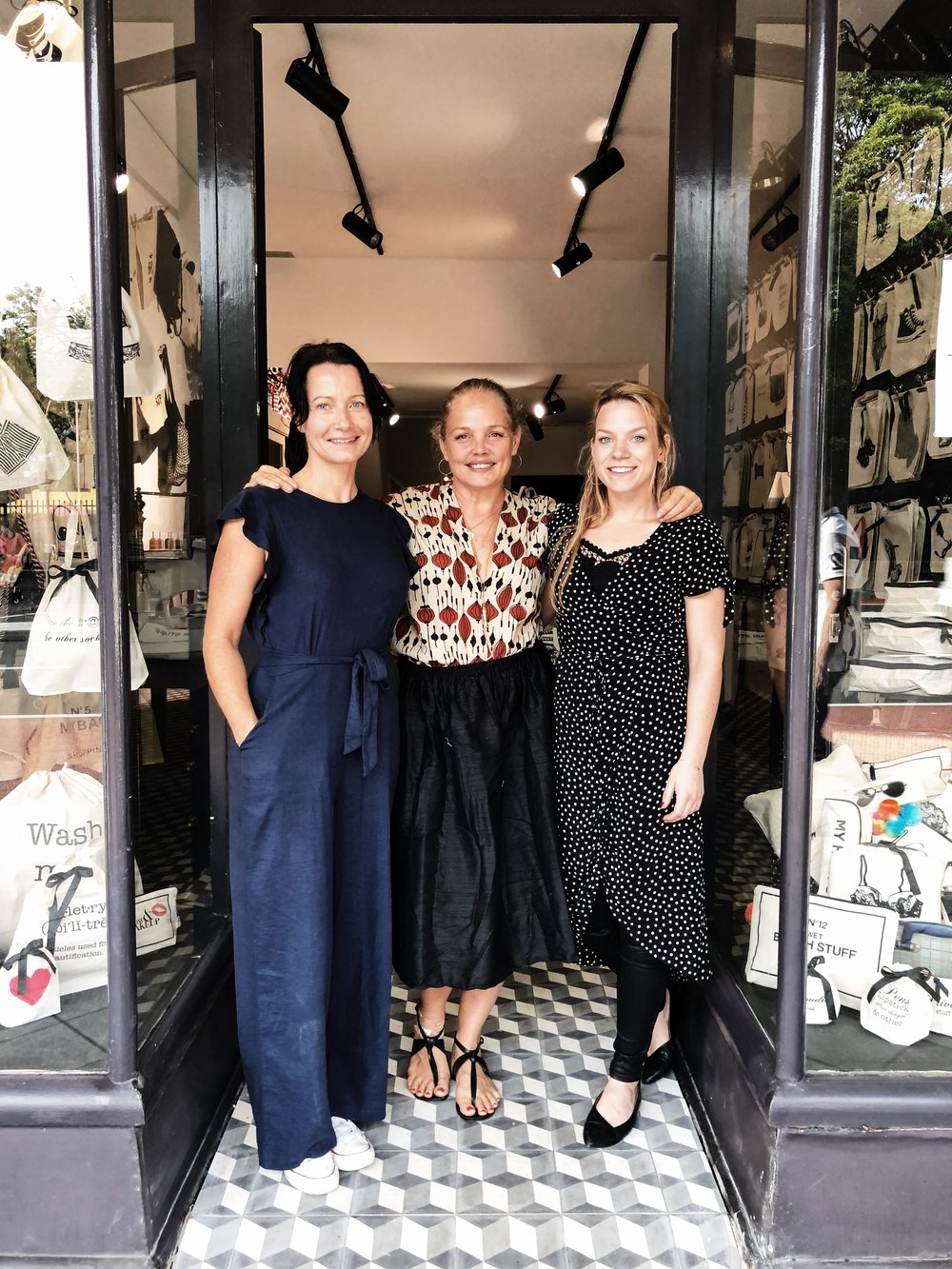 From left: Jenny Grimsgard, Bag-all Australia CEO, Jennifer Jansch, Bag-all Founder and CEO, Julia Arhammar, Bag-all VP and Director of Sales