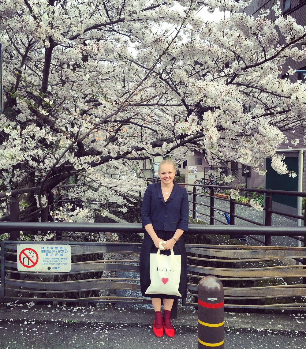 3.cherry blossom - If at all possible go around March 25th as this is the average date the Cherry trees blossom. It is spectacular!Jennifer with a New York heart tote.