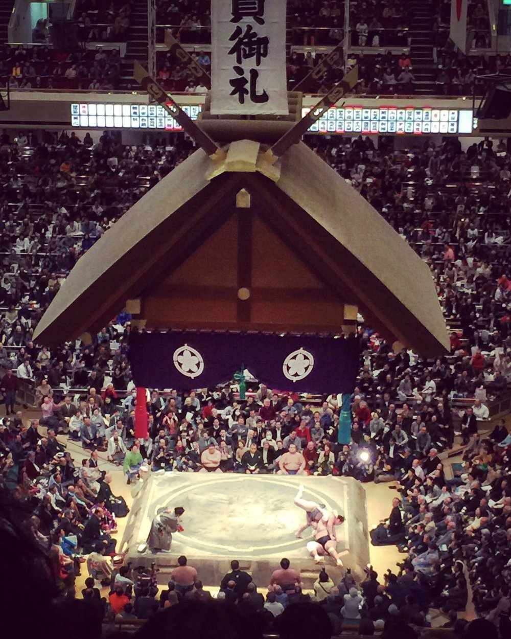 5.sumo wrestling - There are not sumo tournaments year around in Japan, so if you are into Sumo, like we are, make sure to check when the games are. We absolutely love the whole setting of the sport of sumo. And the referees has the best outfits ever, which they change between each match so these sumo games are virtual fashion shows and we love it!