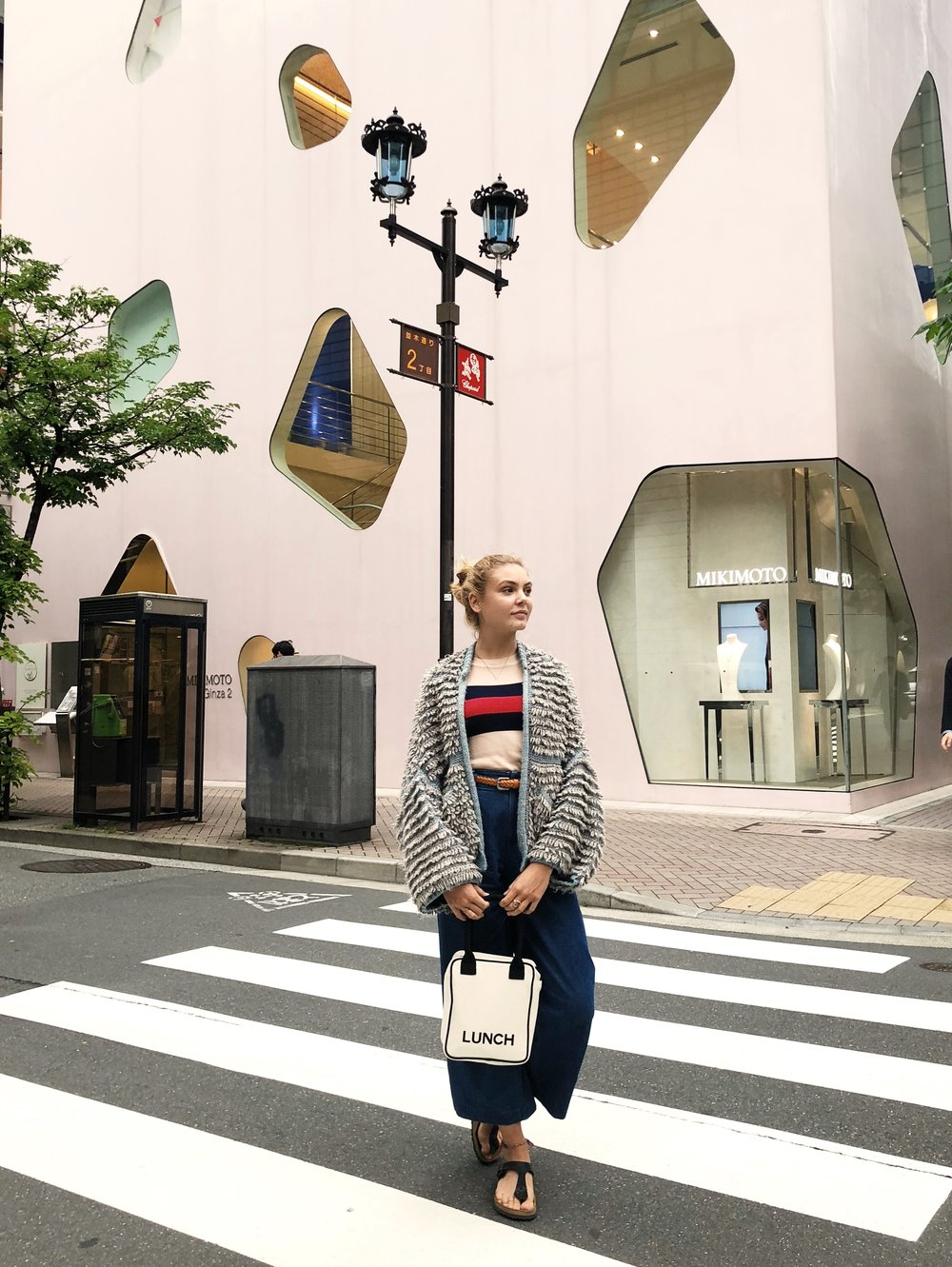 2.shop GINZa - You can't really talk about Tokyo and not mention the shopping. There are tons of innovative concepts stores and many shopping areas. Here are our favorite places in the fancy are of Ginza:Kitte located by Tokyo Station is a large shopping mall with really cute stores featuring smaller brands.Tokyu Plaza Ginza is another big mall with smaller, innovative brands.We also love Mujis large concept store in Ginza. Here you can find all things Muji including furniture, books, stationary, clothes, restaurant and even bikes.Celeste bringing her lunch around town in Bag-alls Lunch box.