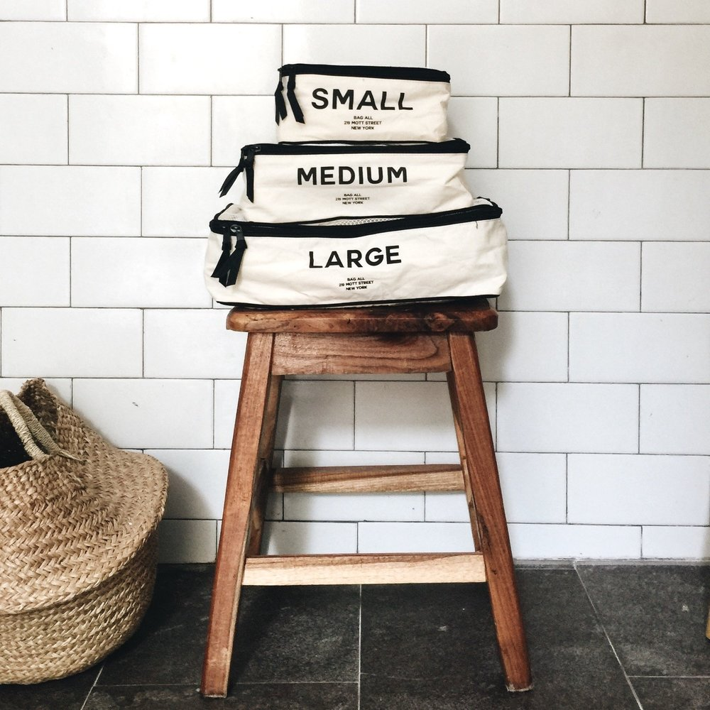 Get organized - Instead of just throwing everything into your bag we recommend organize it in categories with our Packing Cubes. When you arrive you can just pop them in the wardrobe and unpacking is done! Time to put your feet up and relax!Price $55.00