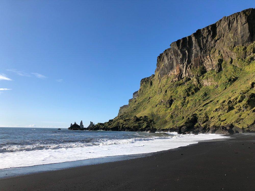 - BLACK SAND BEACH