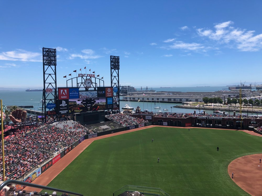 Go Giants Go! - The locals live for their Giants. Being one of the best located baseball arenas, with a view of the water, it's a great place to spend the day. Get some garlic fries and hope for a home run.
