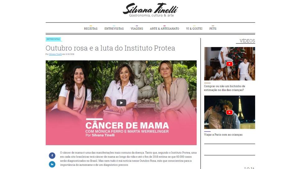 Silvana Tinelli entrevista Instituto Protea - Confira aqui a entrevista completa com a Diretora Marta Wermelinger e a Conselheira Mônica Ferro.