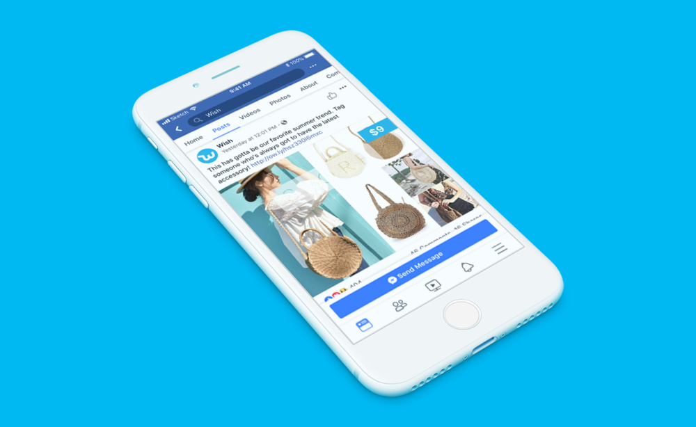 Wish Design Challenge - App Design, E-commerce