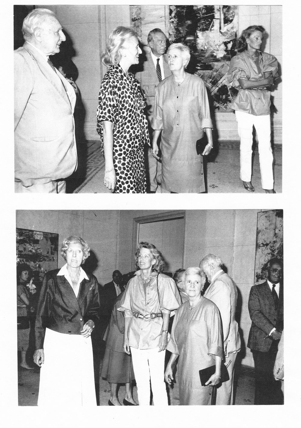 FIAC opening at Grand Palais, Paris, before 1990 One of the 18 occasions where M. F. Toninelli Art Moderne participated.