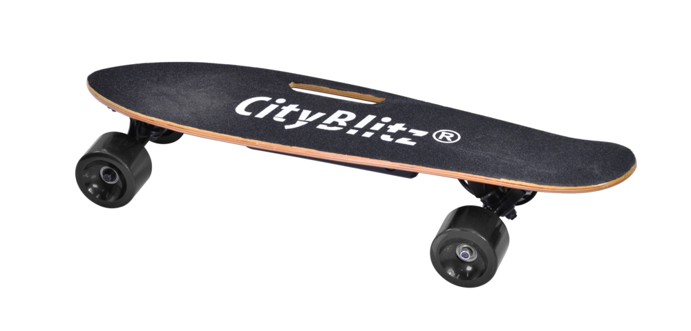 cityblitz® e-skateboard - Model Number: CB0137 Layer Wood (Maple Leaf / Bambus)SAMSUNG Battery81mm ABEC7 Tires