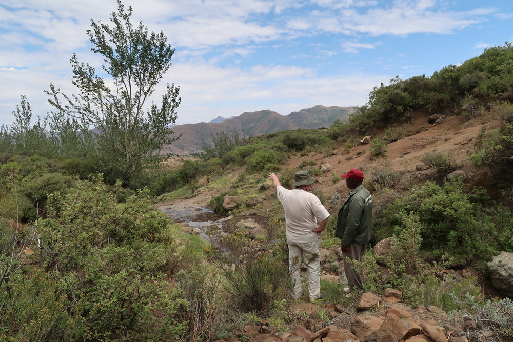 Gerard Heijkoop surveying the natural spring above Raboletsi