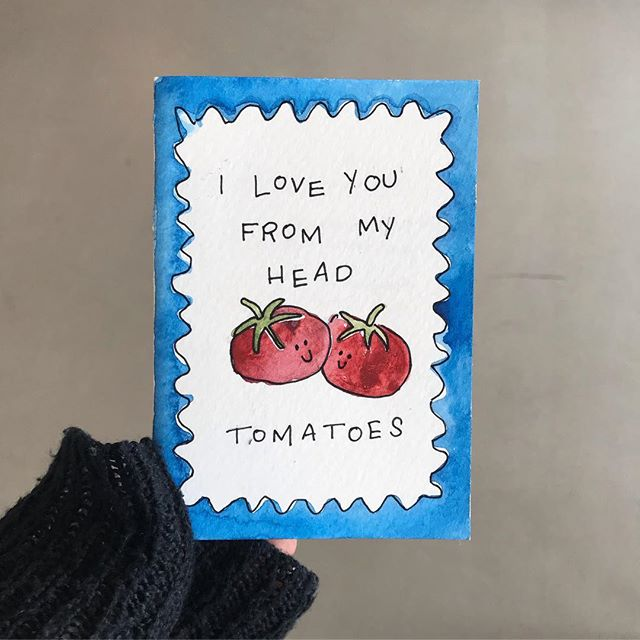 Food related Valentine's Day cards   regulated Valentine's Day cards 🍅🍕🍓 - - #valentinesday #greetingcards #pizza
