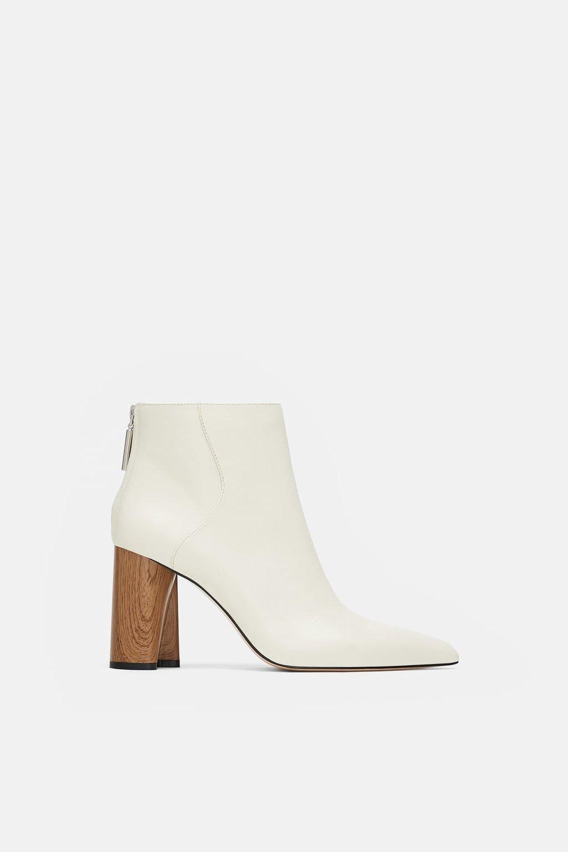 White Booties Zara