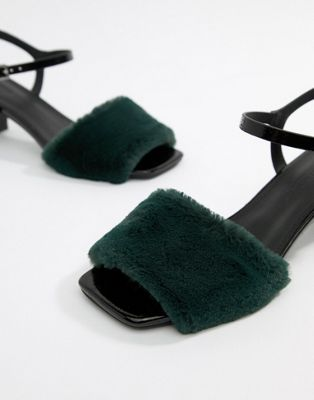Fur Block Heels ASOS