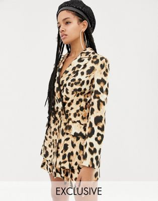ASOS Leopard Blazer Part of Set