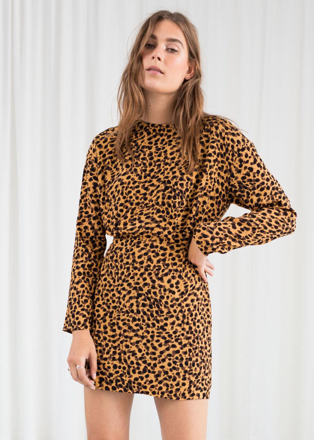 leopard print dress - & other stories