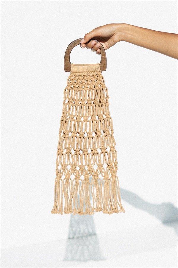 Macrame Tassel Bag