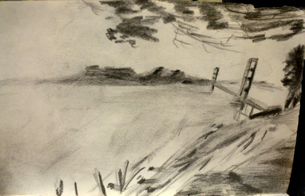 San Francisco Bridge Sketch