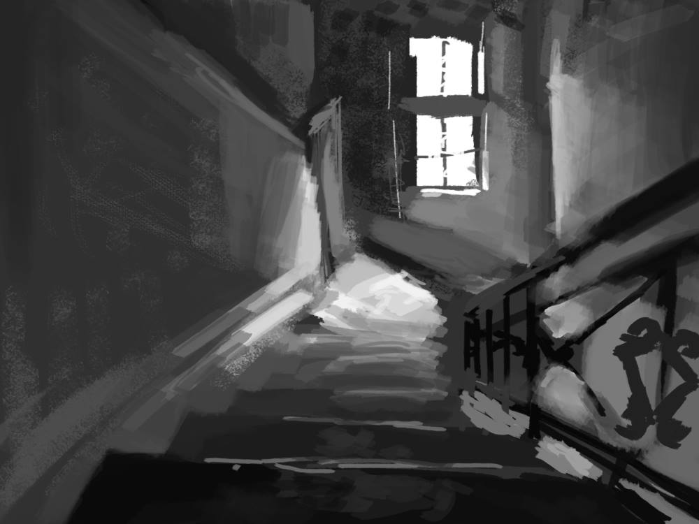 Stairwell composition study%0APaint on digital%0A25 Apr 2016.jpg