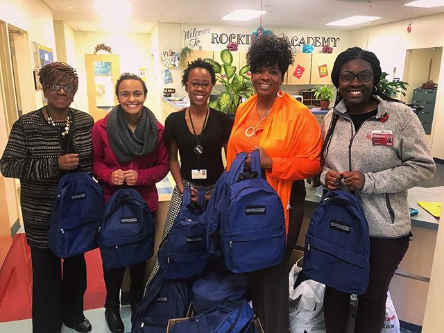 🙌🏾🙌🏾🙌🏾🙌🏾 Just dropped off the backpacks we made during this year's 2018 RMEC volunteer event! 30 backpacks donated to Rockdale Elementary School. They were so grateful and send their thanks to all who donated!! 🙃🥰#UCSNMA #RegionVislive