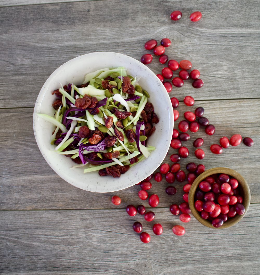 Winter Cabbage Cranberry Salad (Recipe Below)