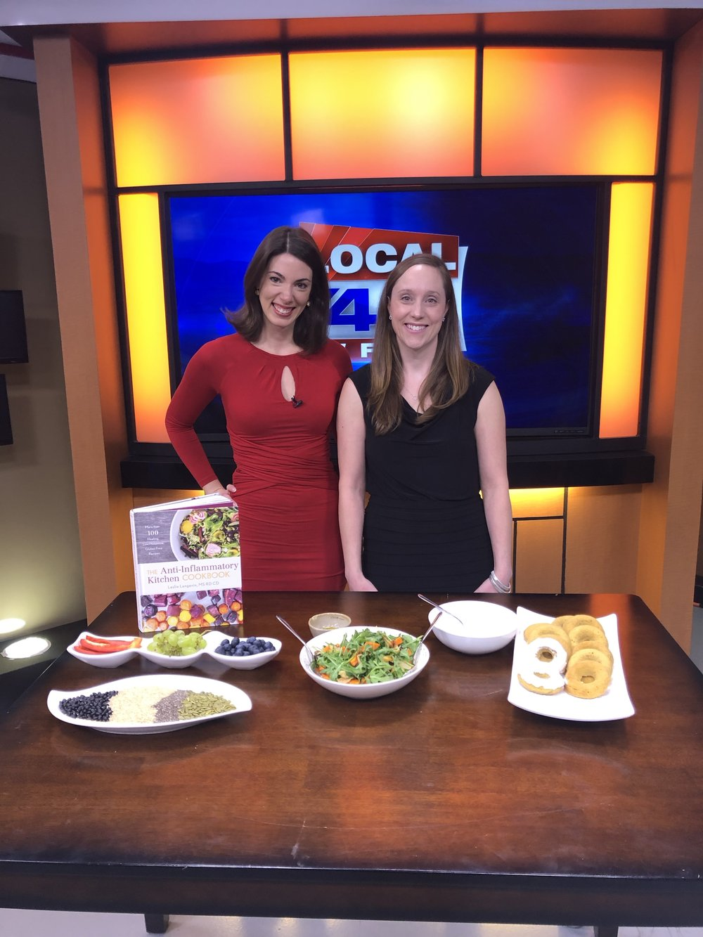 I joined our local 44 station this past Valentine's Day to discuss The Anti-Inflammatory Kitchen Cookbook.    Click on this URL below for the whole segment.    https://www.mychamplainvalley.com/news/local-news/sweet-healthy-treats-that-can-squash-inflammation-1/1784586336