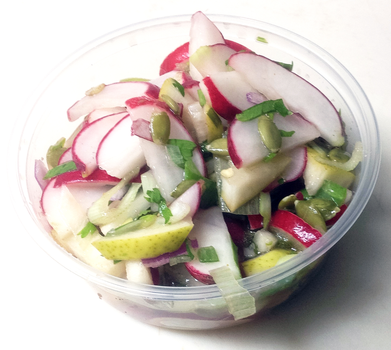 radish and pear salad