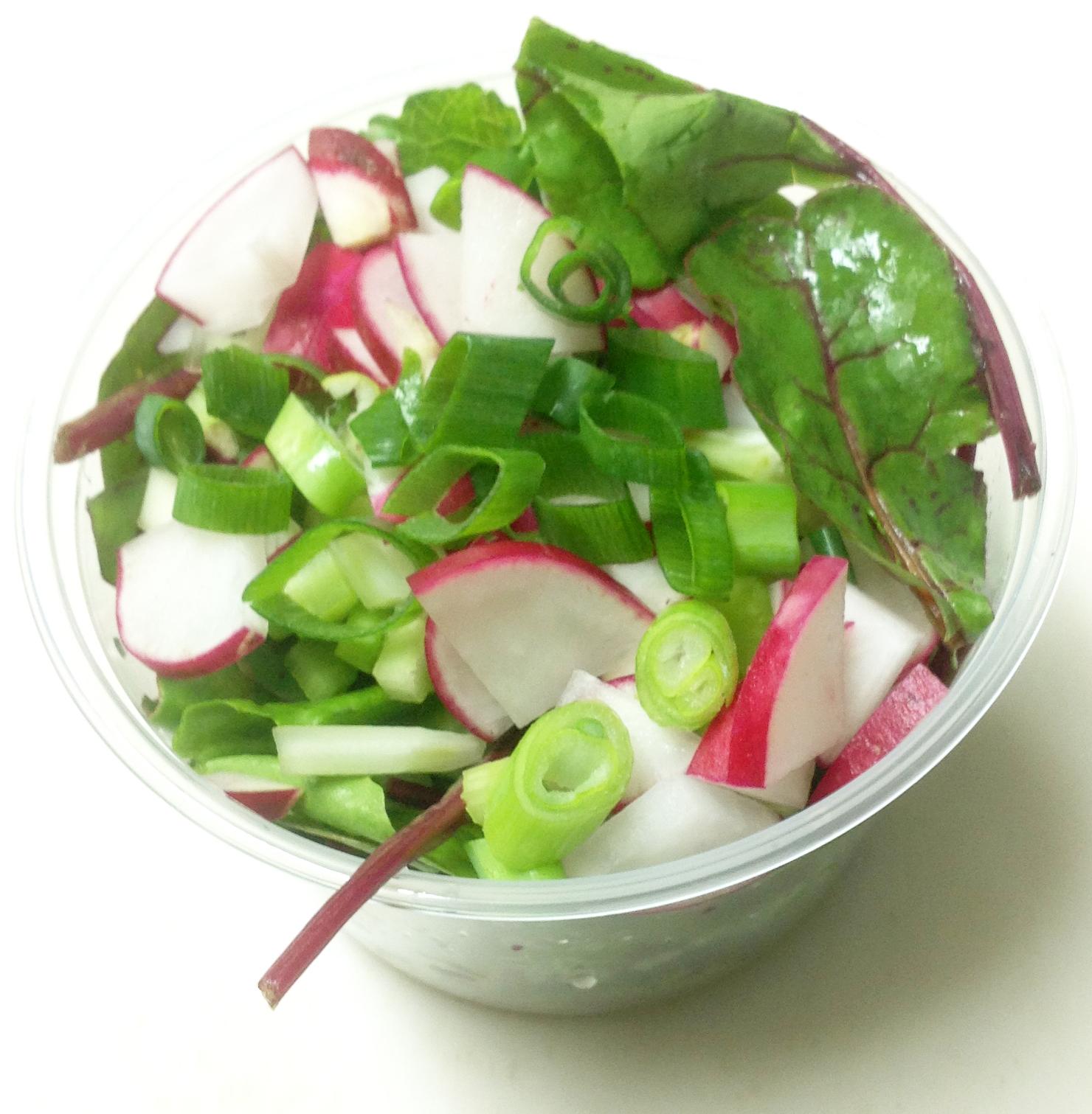 beet tops salad