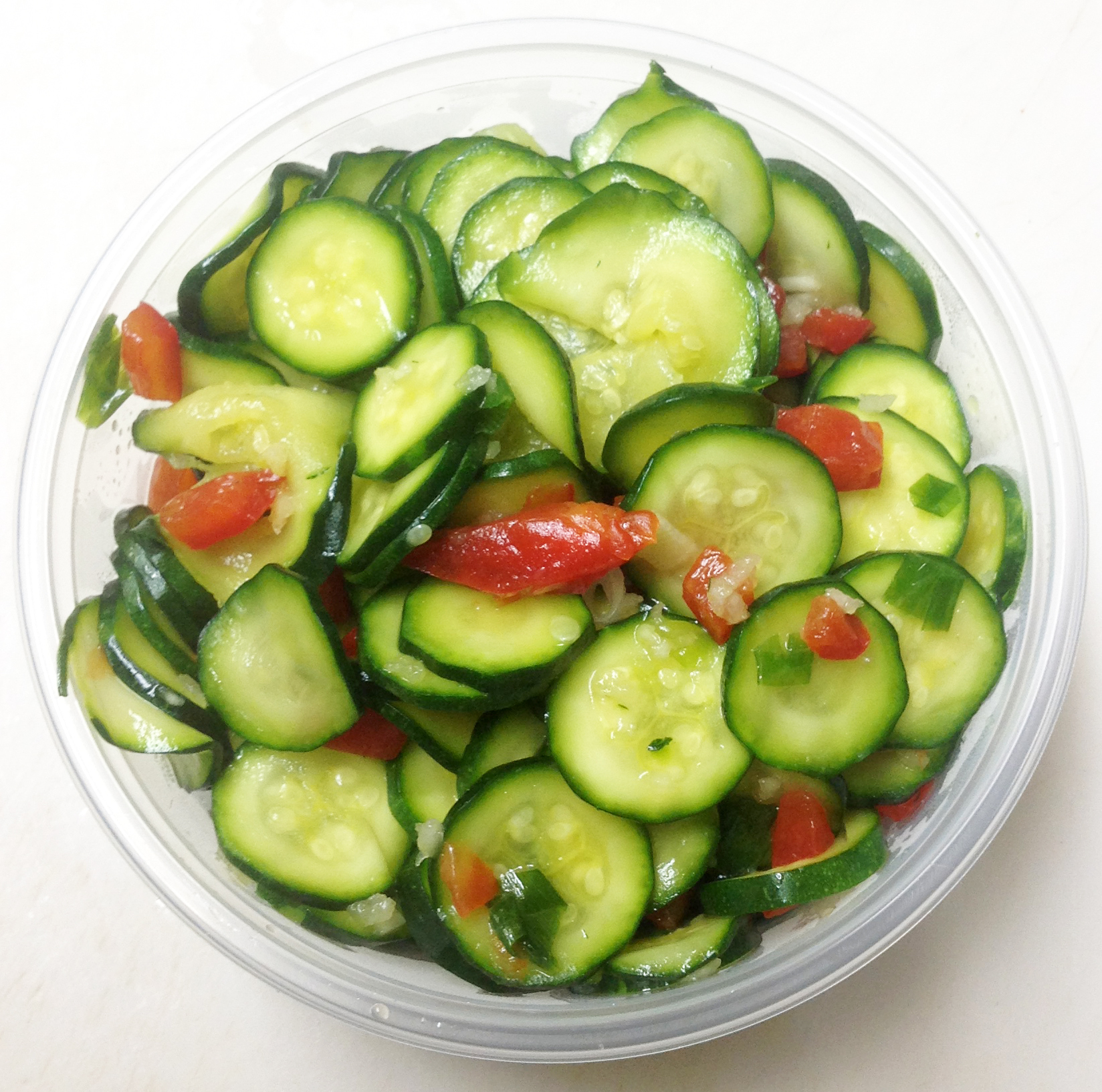 zucchini and red peppers