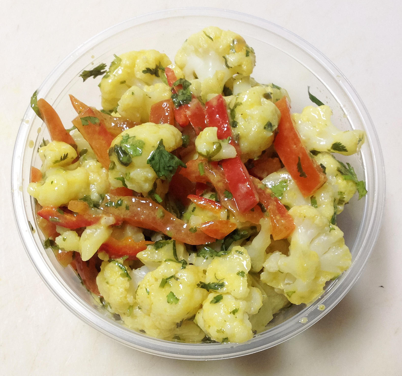 cauliflower and red peppers
