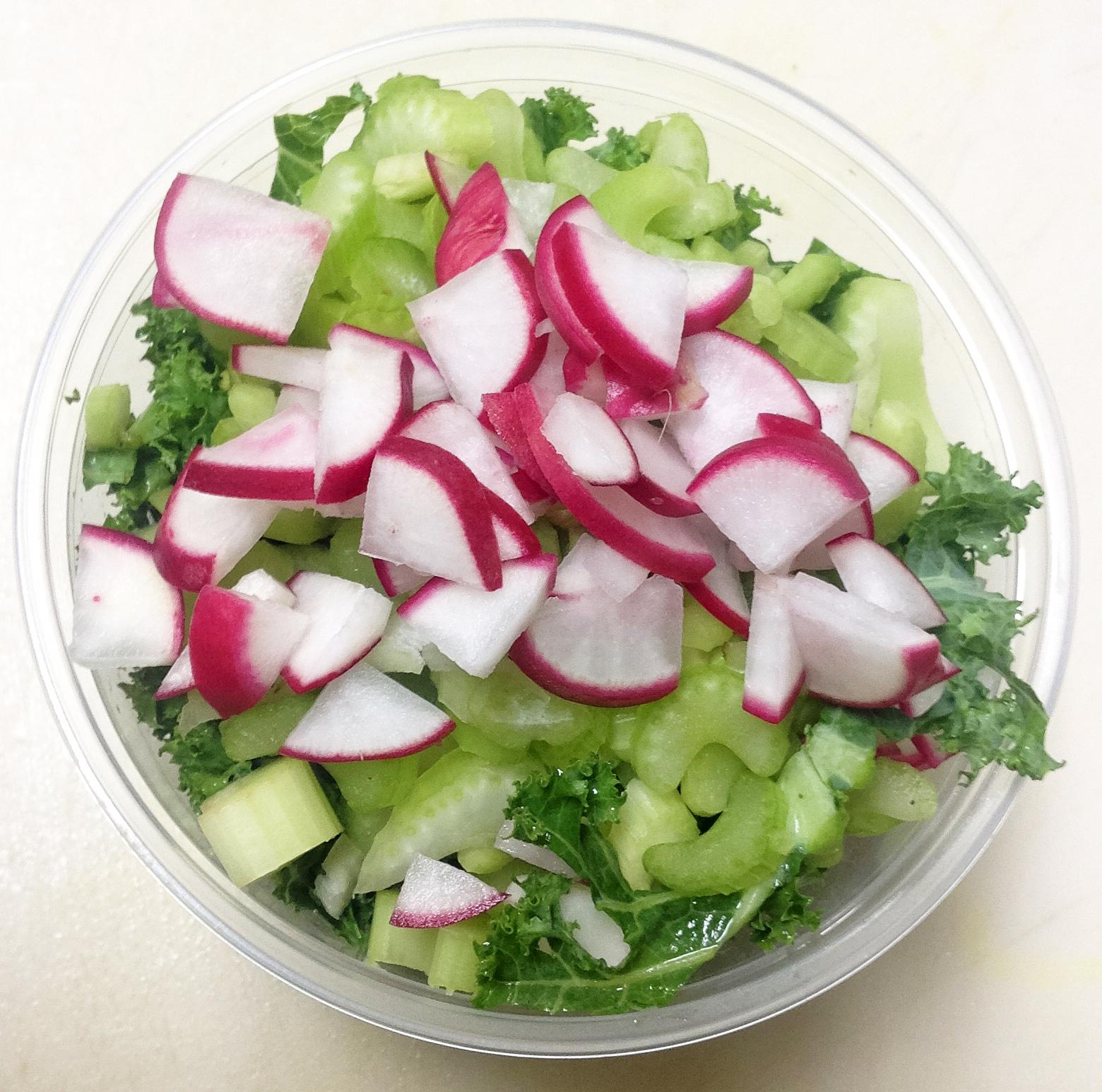 kale radish celery
