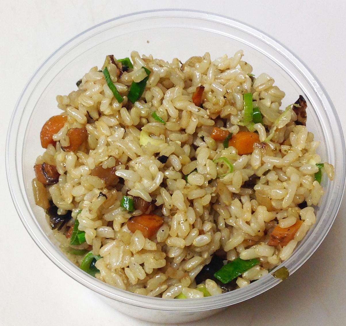 stir fried brown rice
