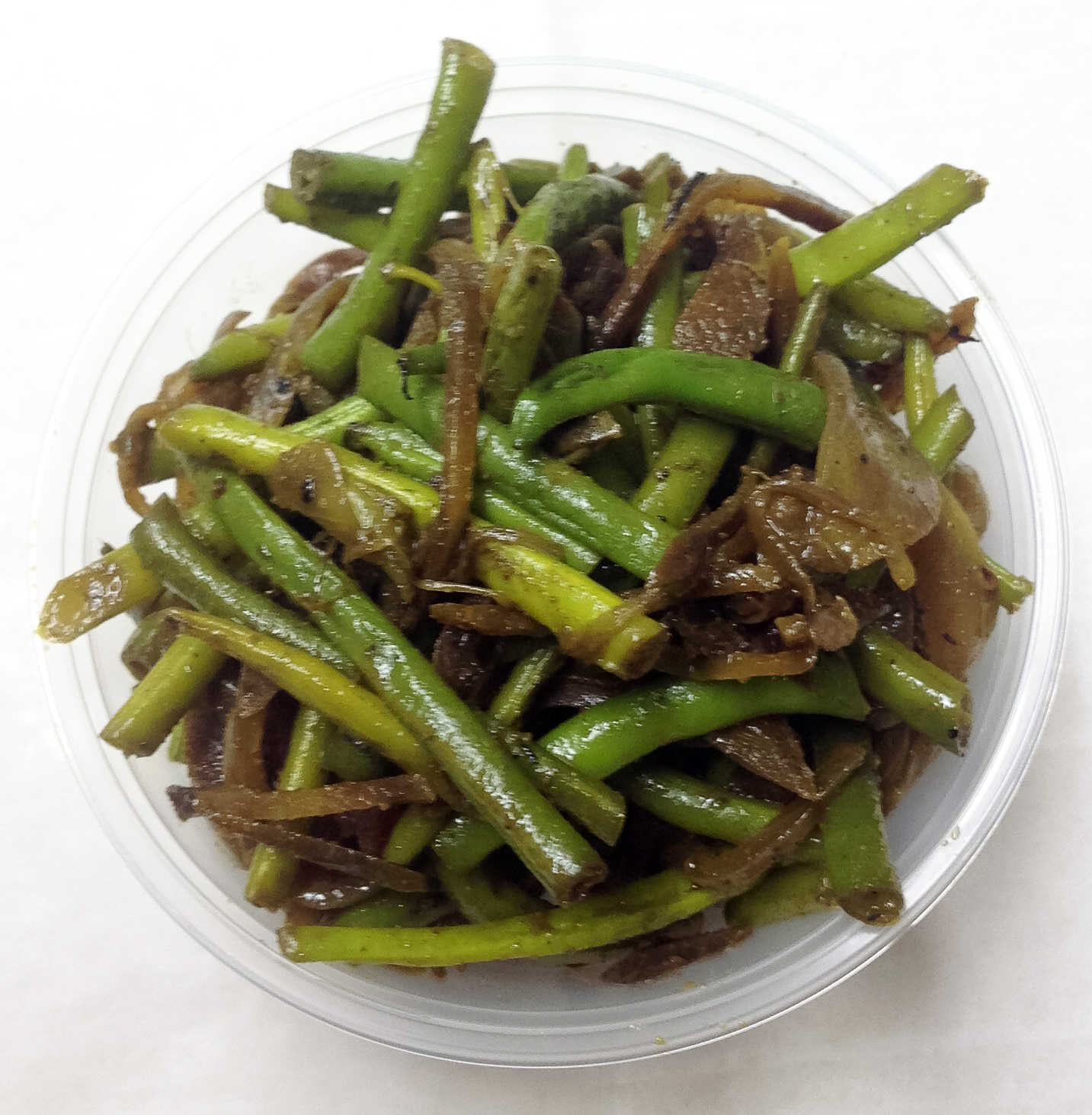 Curried haricots verts