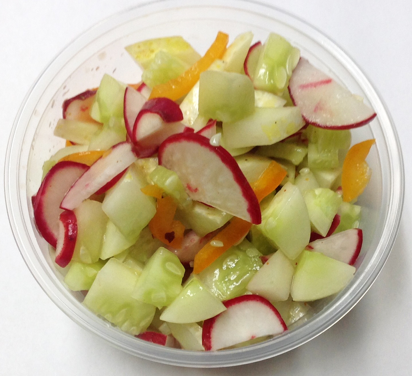 Salt and pepper cucumbers _ salsa_ grapefruit