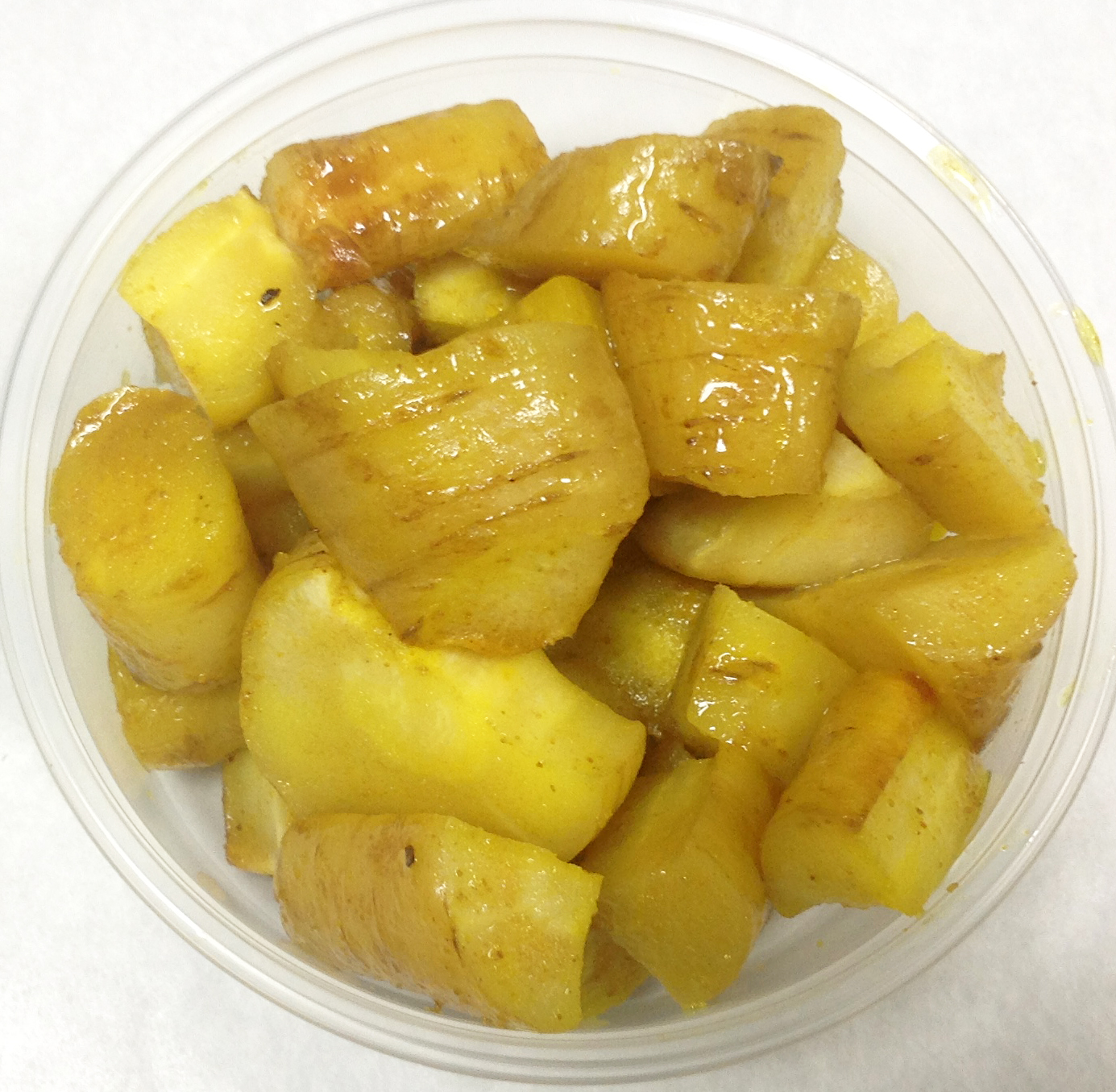 Baked parsnips with turmeric.