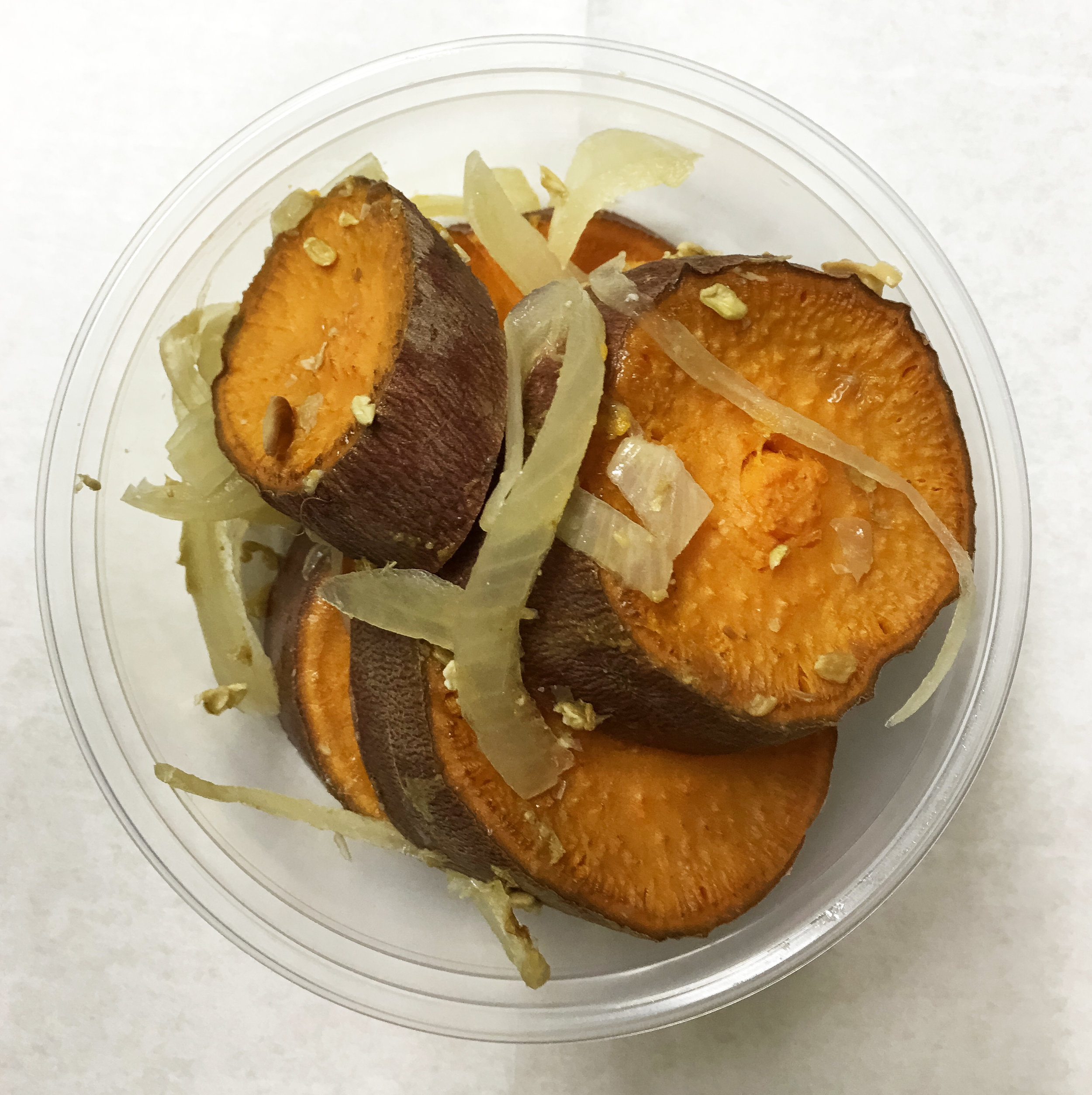 Baked yam_ onion in miso