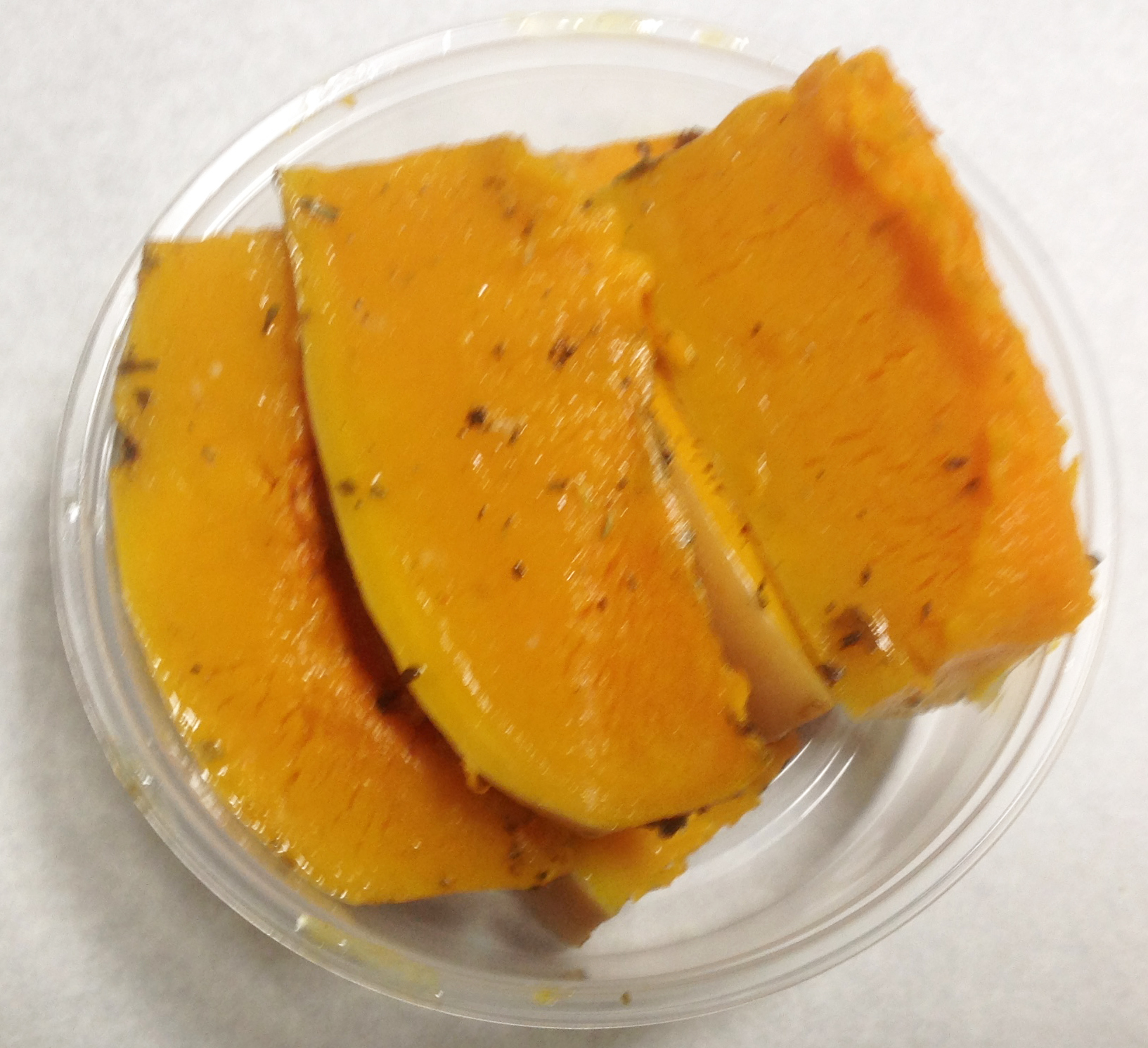 Baked butternut squash with herbs de provence.