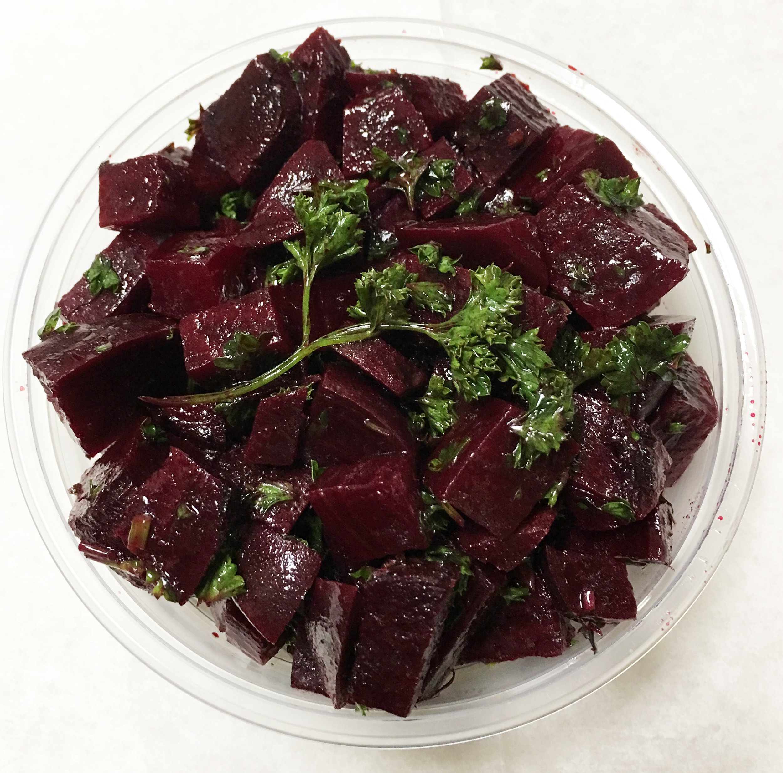 Red beet and parsley salad.
