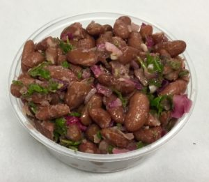 Kidney beans with red onion, parsley, umeboshi vinegar and toasted sesame oil.