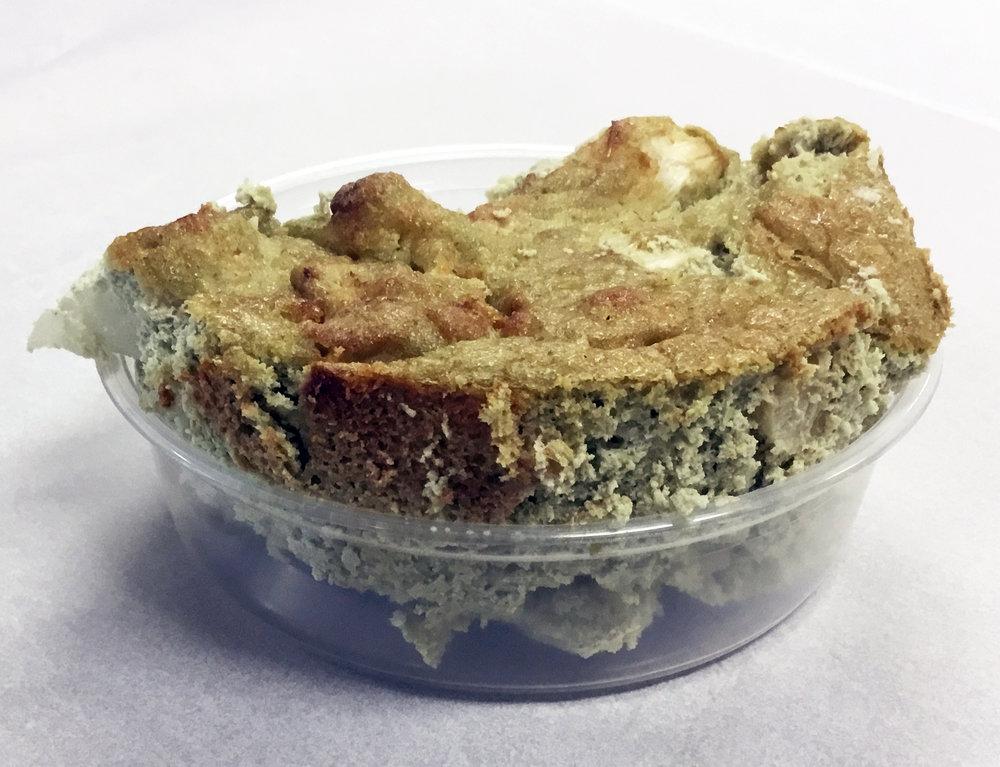 Cauliflower au gratin with a pumpkin seed and garlic cream.