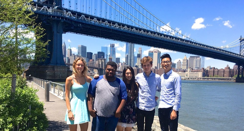 The 2017 TurboVote Summer Associates, from left to right: Eloise, Prince, Michelle, Alex, and Brian.