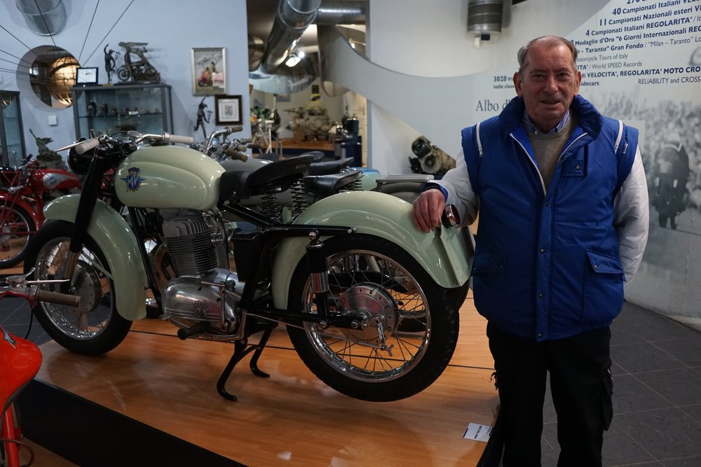 My guide was the museum's motorcycle restorer, Cesare Tobaldo.