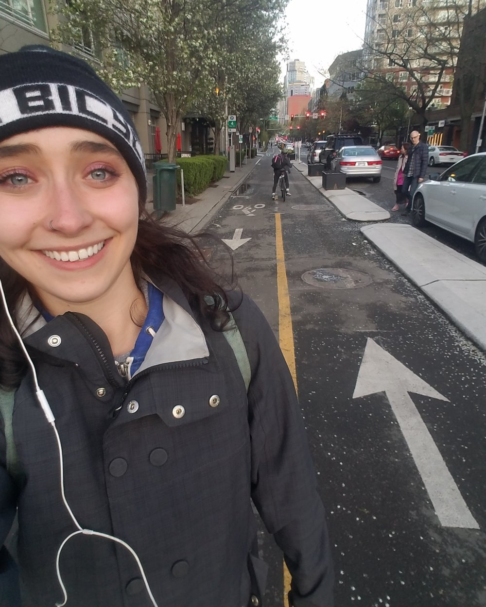A Bike lane so good you gotta get a pic with it!