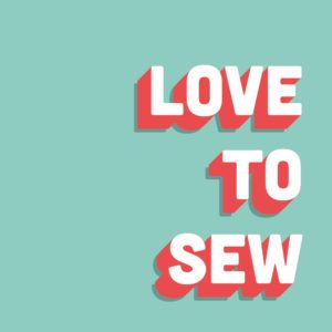 Love to sew (Engl.)
