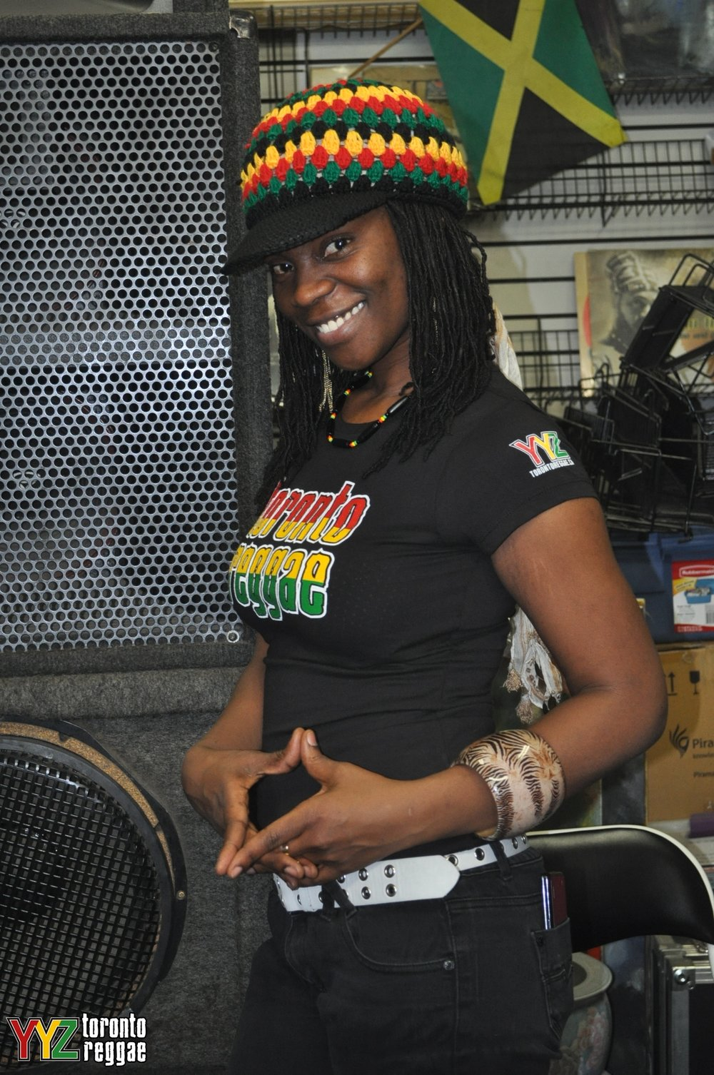 Toronto-based reggae singer Empress Minott showing off her Toronto Reggae T-Shirt! #toronto