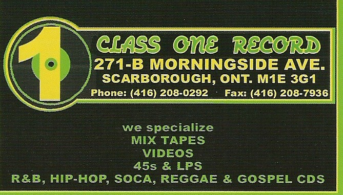 Class One Records 271-B Morningside Ave