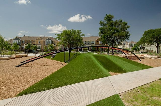 Adding playmounds to your playground makes for a more dynamic and exciting experience for kids of all ages! #playmounds #playgroundgrass #artificialturf
